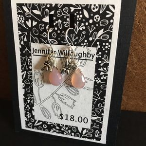 Pink Chalcedony and Sterling Silver earrings
